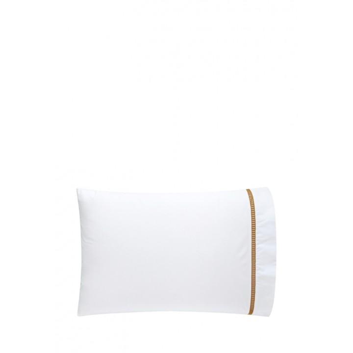 Наволочка «San Marco» (цвет: белый/золотой; 50х70 см; перкаль: 100% хлопок)