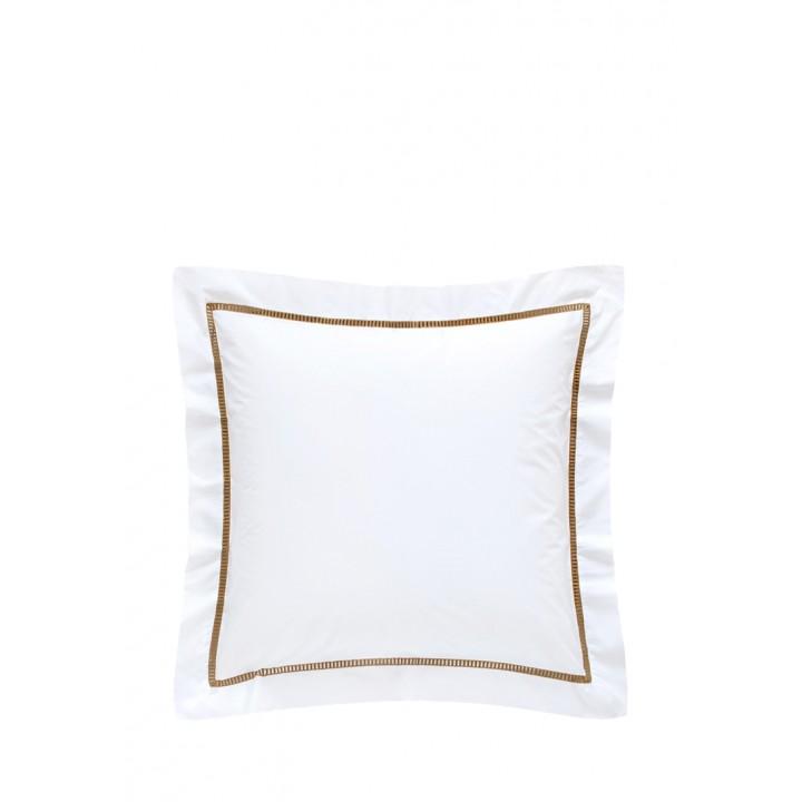 Наволочка «San Marco» (цвет: белый/золотой; 70х70 см; перкаль: 100% хлопок)