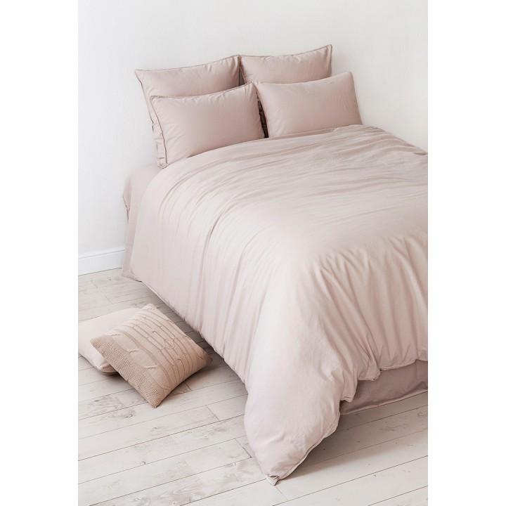 Комплект постельного белья «Soft Sateen» (цвет: пудровый; 1,5 - спальный; софт-сатин: 100% хлопок)