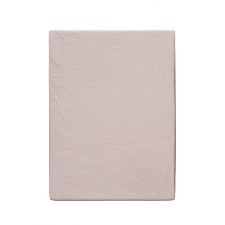 Простыня свободная «Soft Sateen» (цвет: пудровый; 240х280 см; софт-сатин: 100% хлопок)