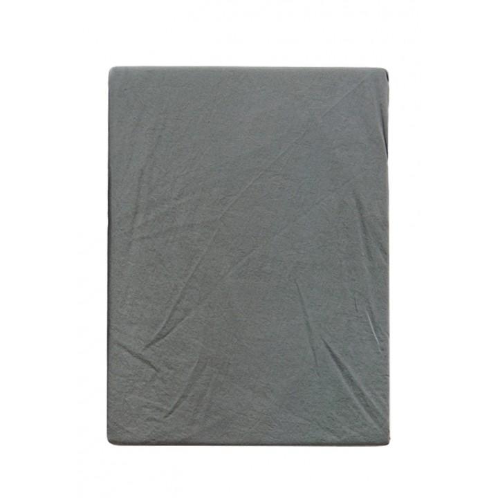 Простыня на резинке «Soft Sateen» (цвет: серо-зеленый; 200х220х30 см; софт-сатин: 100% хлопок)