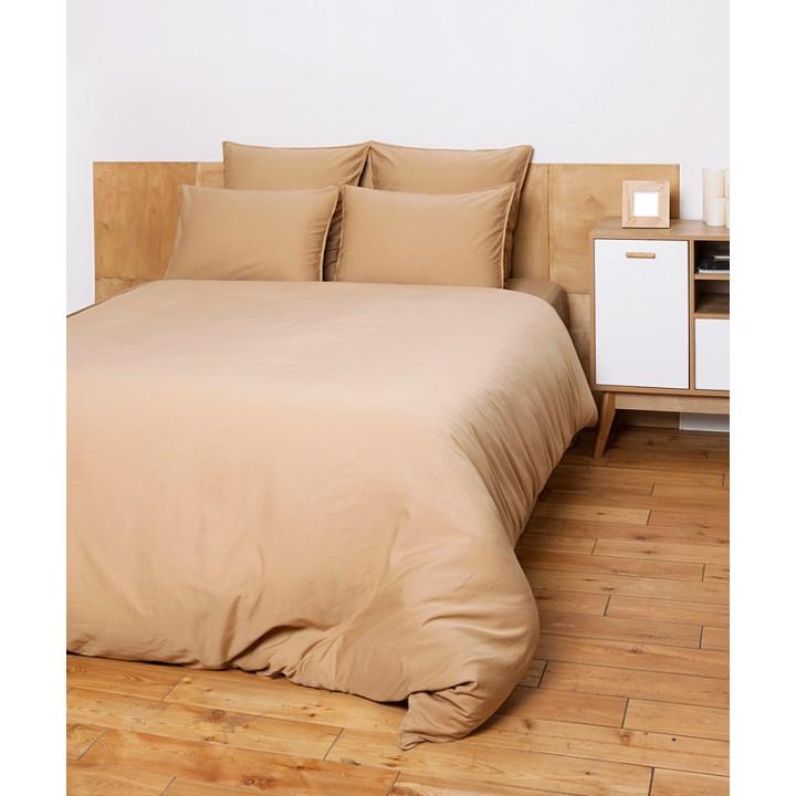Комплект постельного белья «Soft Sateen» (цвет: золотой; 1,5 - спальный; софт-сатин: 100% хлопок)