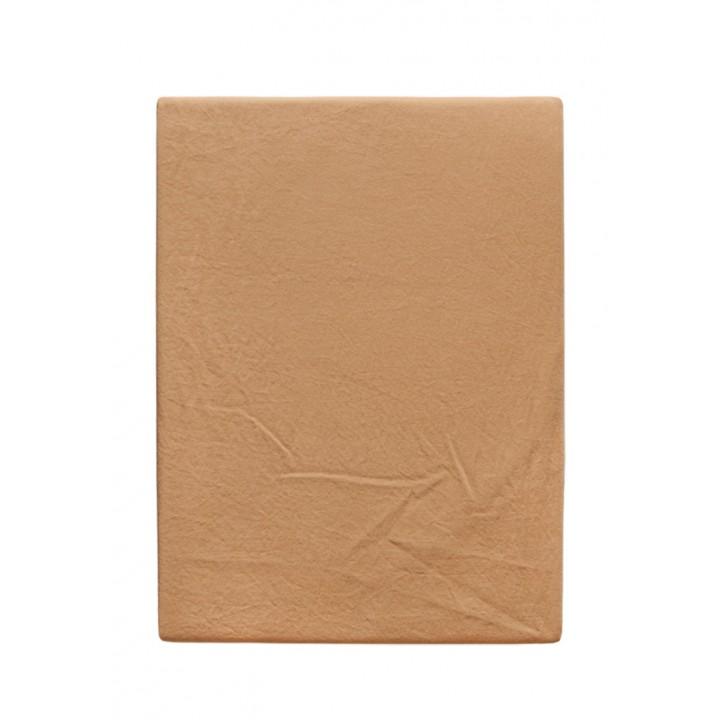 Простыня на резинке «Soft Sateen» (цвет: золотой; 160х200х30 см; софт-сатин: 100% хлопок)