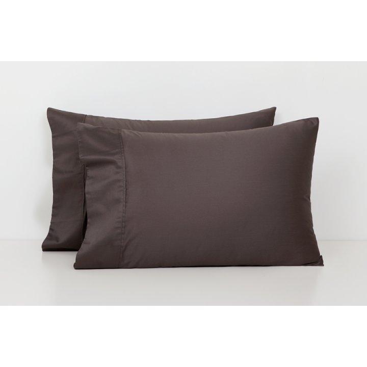Наволочка базовая (цвет: шоколадный, 50х70 см, сатин)
