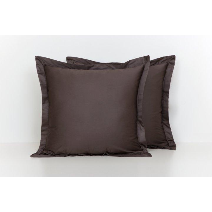 Наволочка базовая (цвет: шоколадный, 70х70 см, сатин)