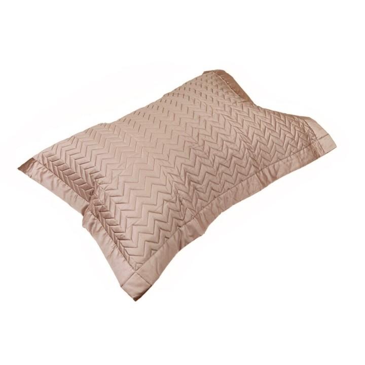 Декоративная наволочка «Zigzag» (цвет: капучино; 50х70 см; сатин, 100% хлопок)