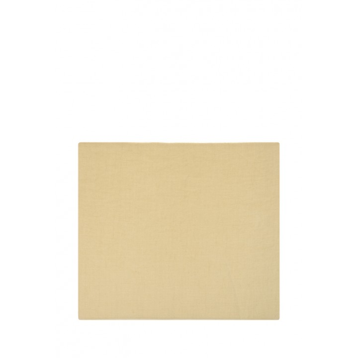 Простыня на резинке «Linen» (цвет: горчичный; 180х200х30 см; лен-хлопок Stonewashed: 50% лен, 50% хлопок)