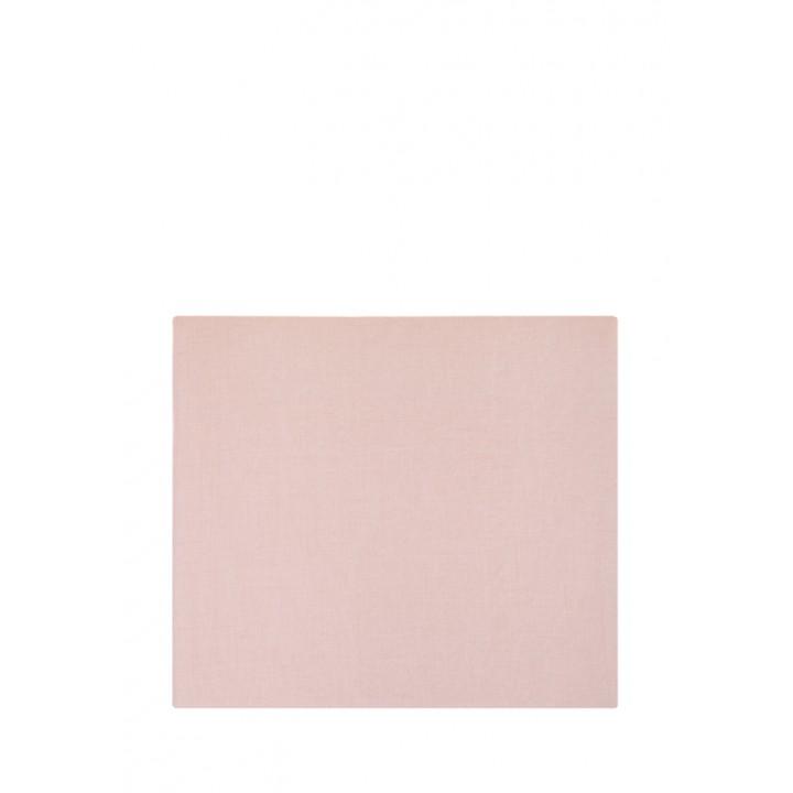 Простыня на резинке «Linen» (цвет: розовый; 140х200х30 см; лен-хлопок Stonewashed: 50% лен, 50% хлопок)
