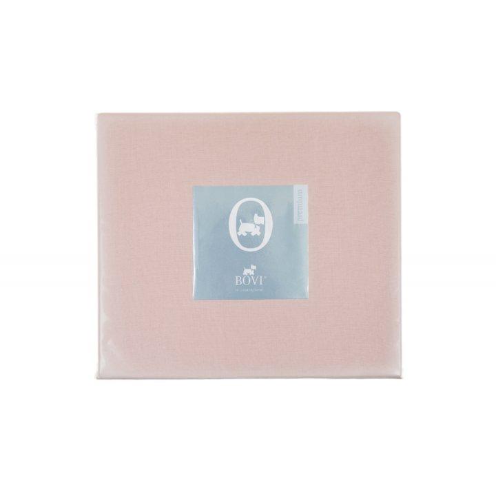Простыня свободная «Linen» (цвет: розовый, 240х280 см, лен - хлопок Stonewashed)