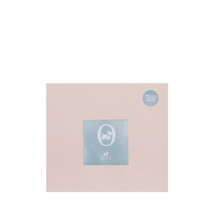 Простыня на резинке «Акцент»  (цвет: пудрово-розовый, 200х220х30 см, перкаль)