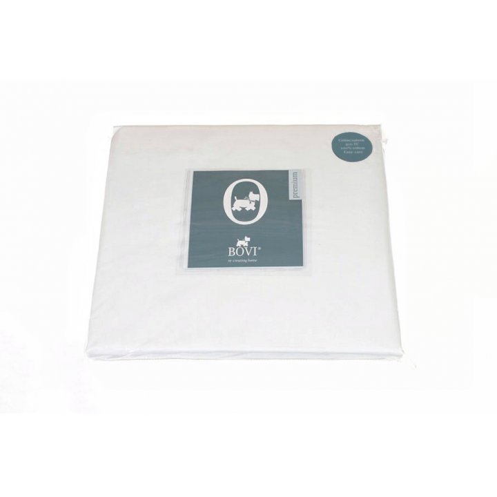 Простыня на резинке «Queen»,«Elisa» (цвет: белый, 160х200х30 см, сатин)