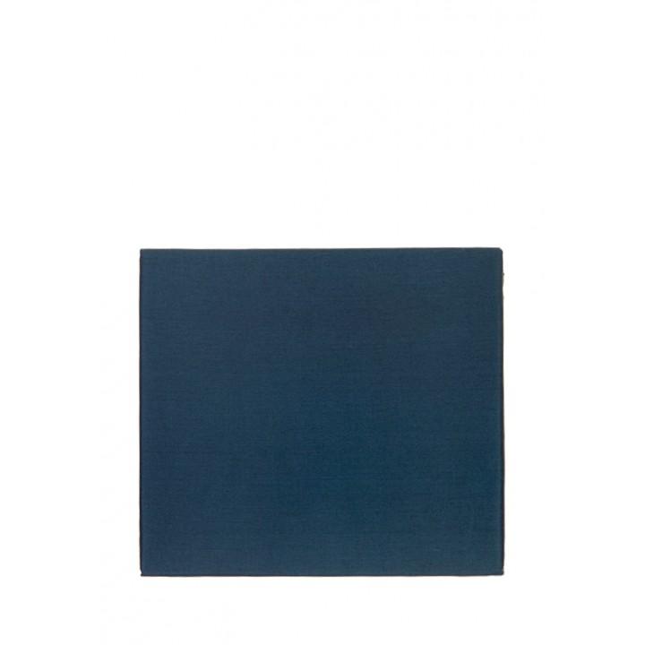 Простыня на резинке (цвет: индиго; 180х200х30 см; сатин: 100% хлопок)