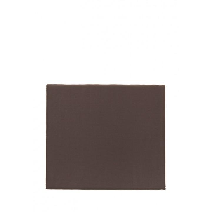 Простыня на резинке «Basic» (цвет: шоколад; 140х200х30 см; сатин: 100% хлопок)