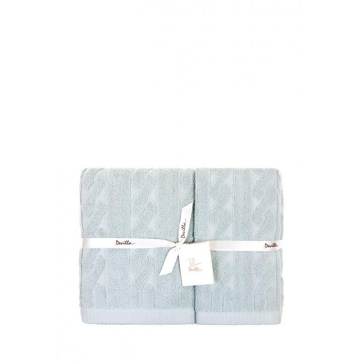 Полотенце махровое «Imperio», цвет: голубая глина (100х150 см; жаккардовая махра: 100% хлопок)