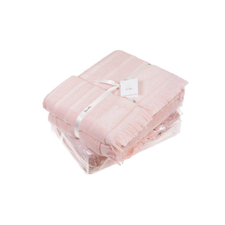 Полотенце «Mousse» (цвет: персиковый, 70x140 см, махра)
