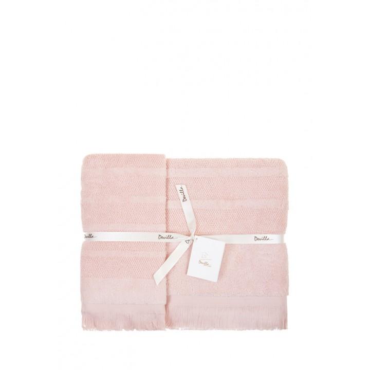 Полотенце махровое «Mousse», цвет: персиковый (50x100 см; махра: 100% хлопок)