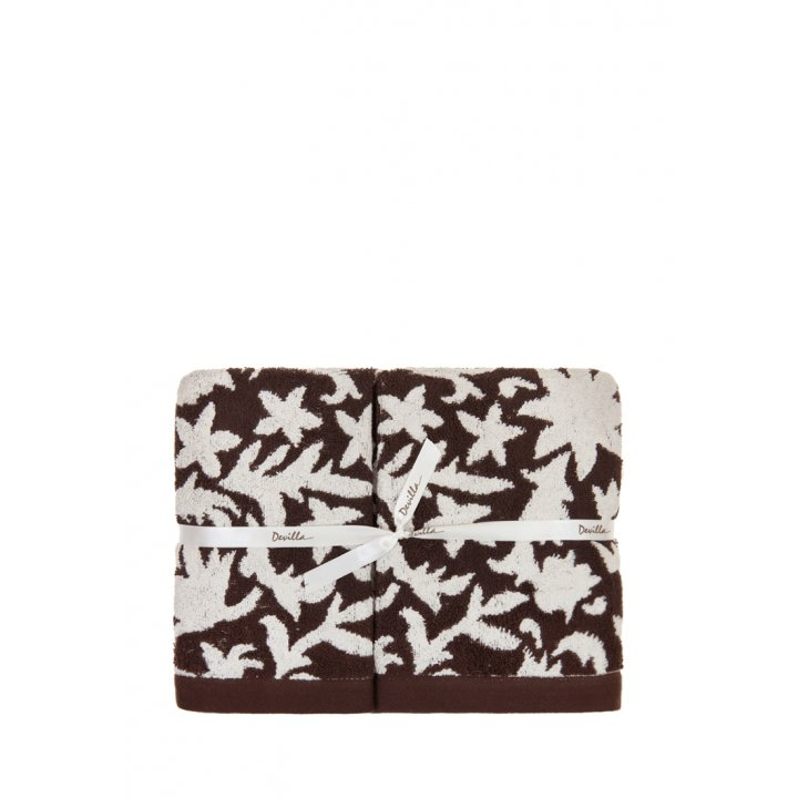 Полотенце «Vita» (цвет: коричневый/кремовый, 50x100 см, махра, бамбук)