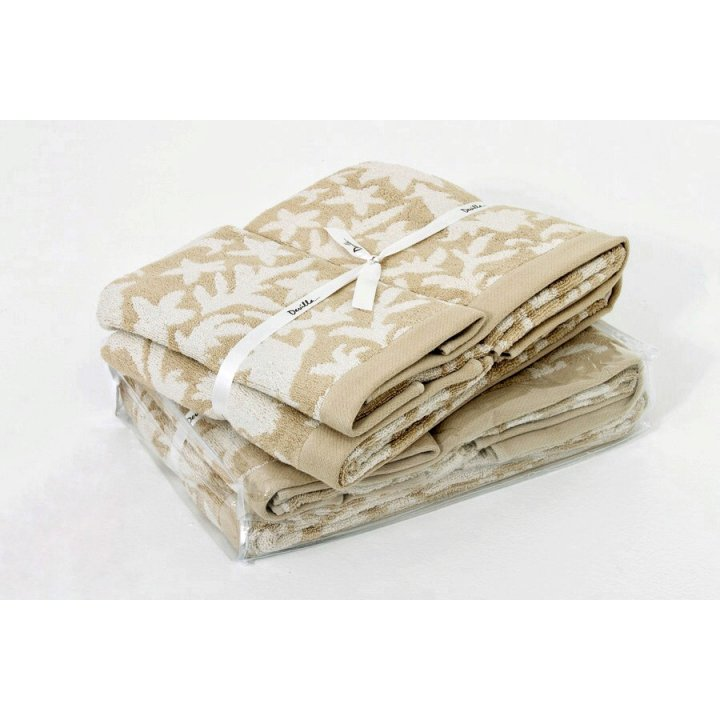Комплект «Vita» из 3 полотенец (цвет: бежевый, 30х50 см (1), 50х100 см (1), 70х140 см (1), махра, бамбук)