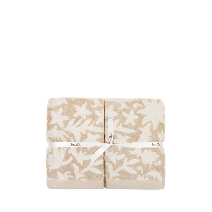Полотенце махровое «Vita», цвет: бежевый (70x140 см; махра: 60% хлопок, 40% бамбук)