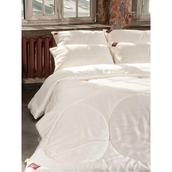 Одеяло всесезонное стеганое «Double Tencel Grass» (200х220 см; наполнитель: 100% tencel fiber grass; чехол: сатин, 60% тенсель, 40% хлопок)