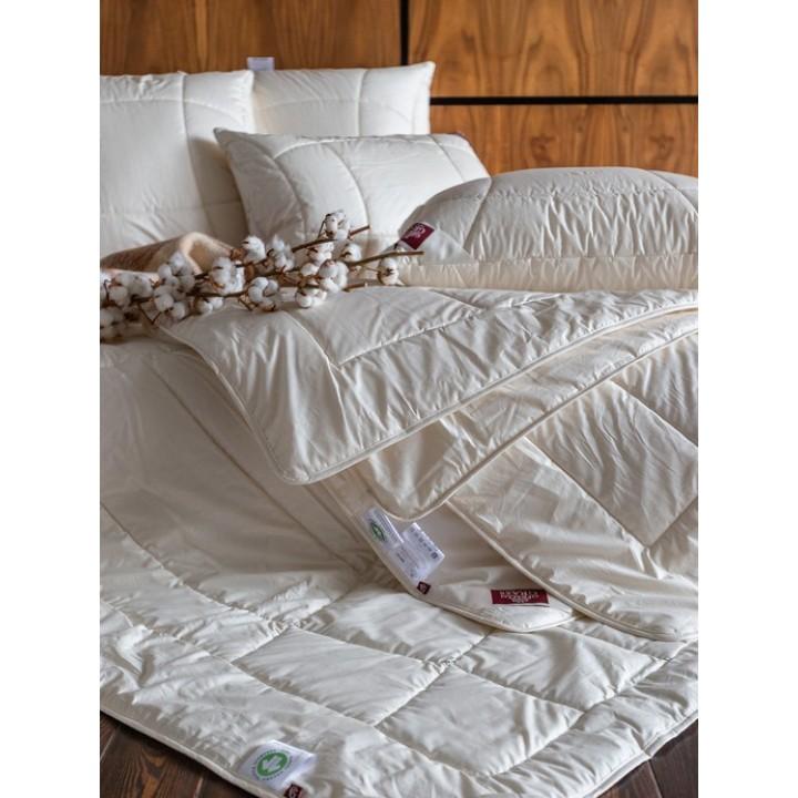 Одеяло всесезонное стеганое «Organic Cotton Grass» (200х220 см; наполнитель: 70% хлопковое волокно, 30% льняное волокно; чехол: батист, 100% органический хлопок)
