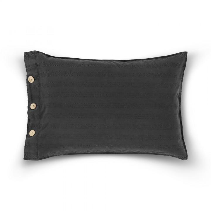 Наволочка декоративная «Payas» (цвет: темно-серый; 50х70 см; 100% хлопок)
