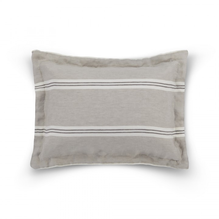 Наволочка декоративная «Pure» (цвет: дым; 50х70 см; 100% лен)