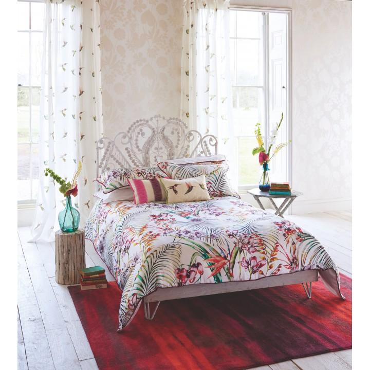 Комплект постельного белья «Paradise Flamingo» (цвет: белый/фламинго, евро king size, сатин)
