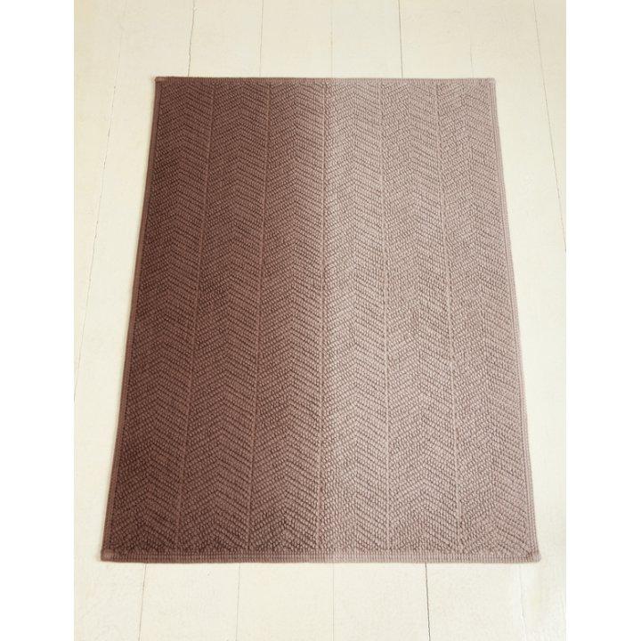 Коврик «Art №1» (цвет: бежевый/коричневый; 70х120 см; 100% хлопок)