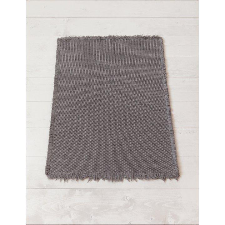 Коврик «Casual» (цвет: серый; 70х120 см; 100% хлопок)