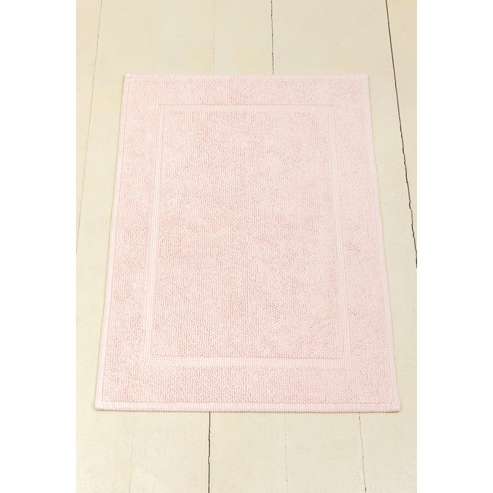 Коврик «Lux» (цвет: светло-розовый; 65х90 см; 100% хлопок)