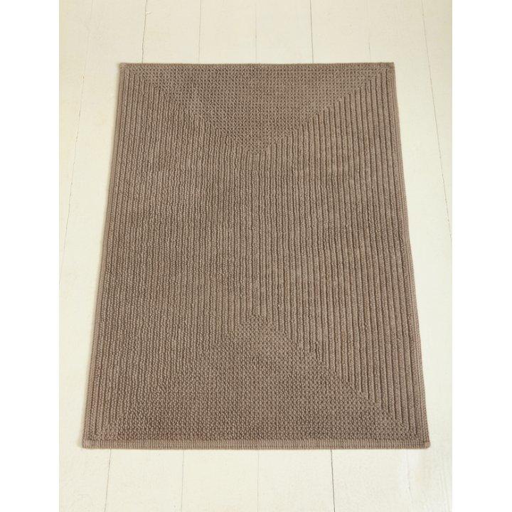 Коврик «Soft» (цвет: коричневый; 65х90 см; 100% хлопок)