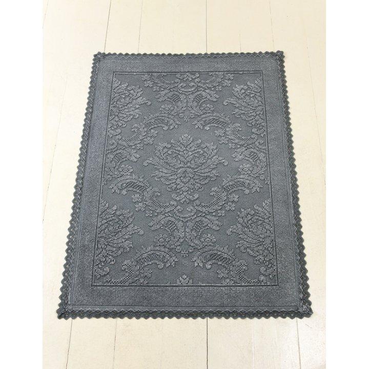 Коврик «Vintage №1» (цвет: темно-серый; 70х100 см; 100% хлопок)