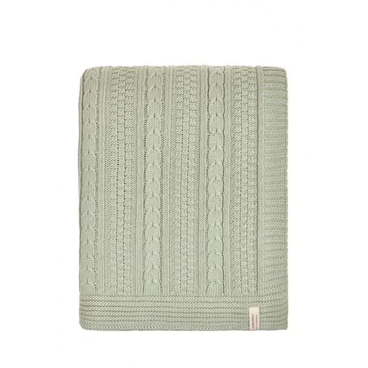 Плед вязаный хлопковый «Imperio №10» (цвет: английский зеленый; 150х200 см; 100% хлопок)