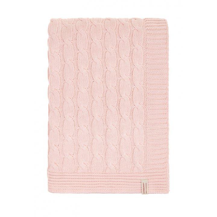Плед вязаный хлопковый «Imperio №22» (цвет: розовый; 130х170 см; 100% хлопок)