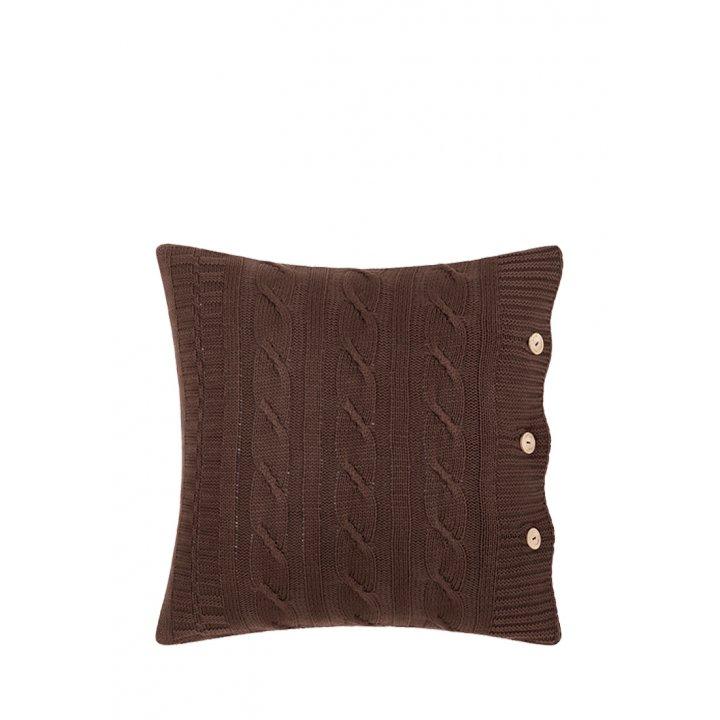 Декоративная наволочка «Imperio №233» (цвет: коричневая замша, 40х40 см)
