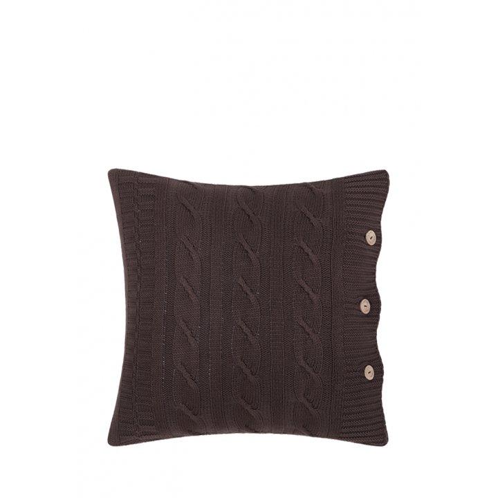 Декоративная наволочка «Imperio №233» (цвет: шоколадный, 40х40 см)