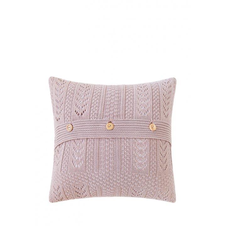 Декоративная наволочка «Lux №11» (цвет: пепельно-розовый, 40х40 см)