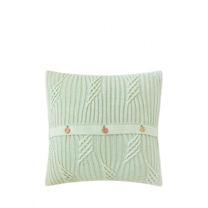 Декоративная наволочка «Lux №12» (цвет: зеленое яблоко, 40х40 см)