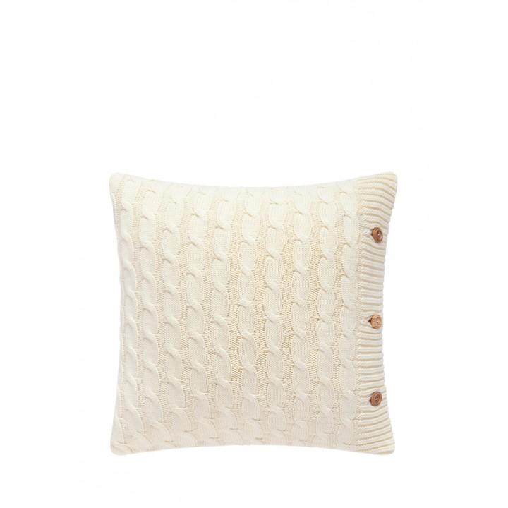 Декоративная наволочка «Lux №22» (цвет: кремовый; 40х40 см; 100% хлопок)