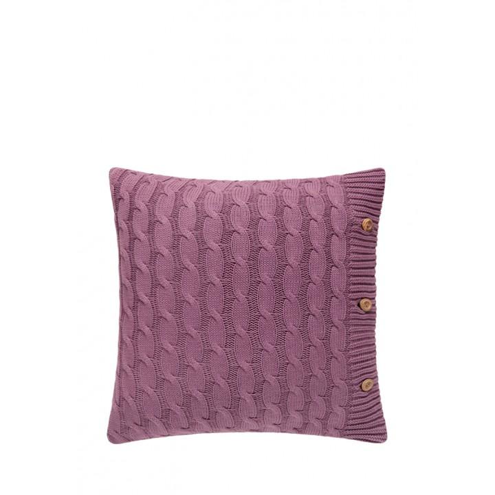 Декоративная наволочка «Lux №22» (цвет: вишневый; 40х40 см; 100% хлопок)