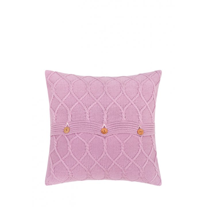 Декоративная наволочка «Lux №34» (цвет: французский розовый, 40х40 см)