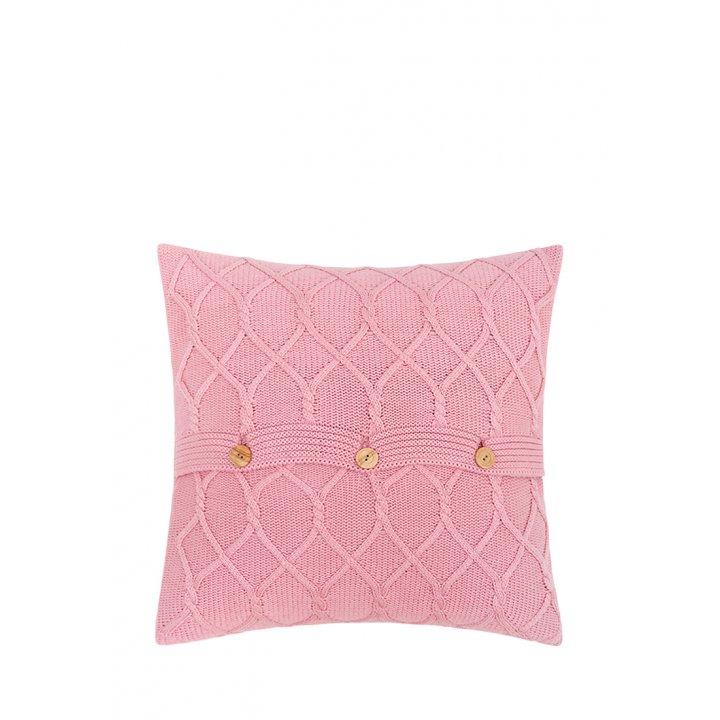 Декоративная наволочка «Lux №34» (цвет: розовый, 40х40 см)