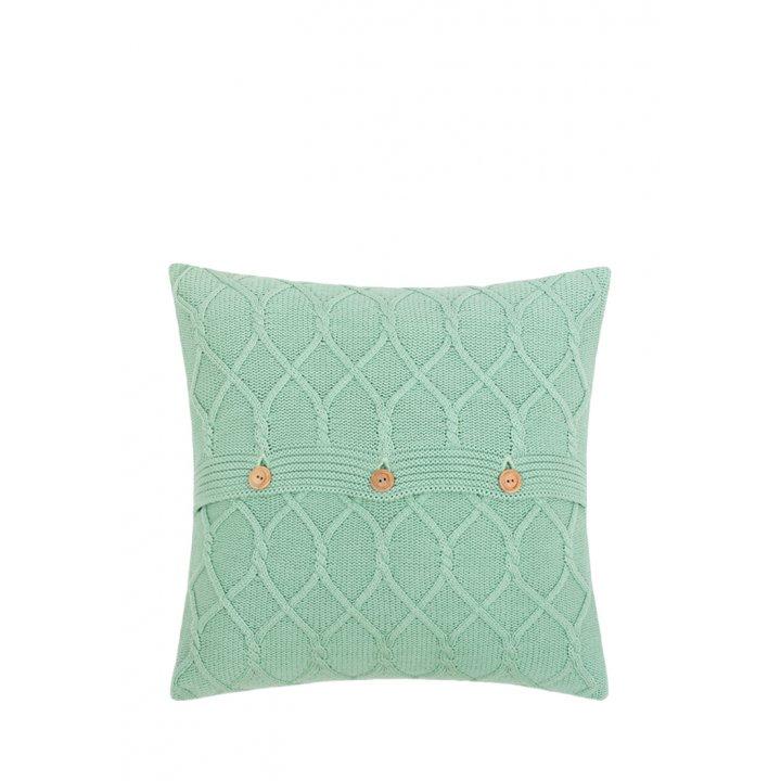 Декоративная наволочка «Lux №34» (цвет: весенняя зелень, 40х40 см)