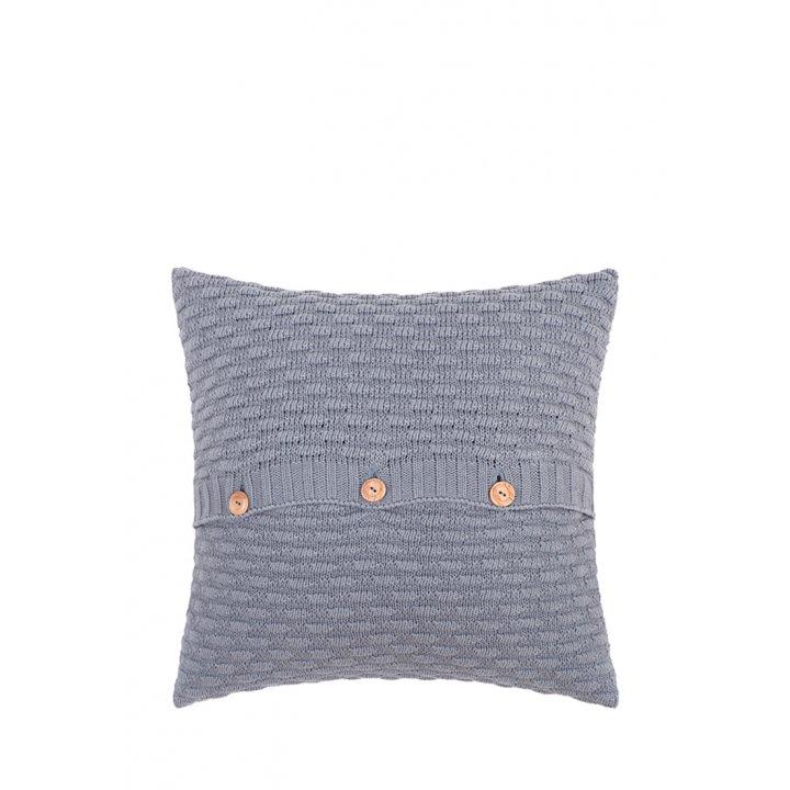 Декоративная наволочка «Lux №43»  (цвет: серый, 40х40 см)