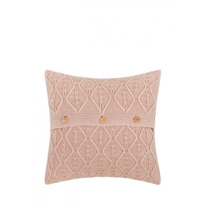 Декоративная наволочка «Lux №46» (цвет: розовая глина, 40х40 см)