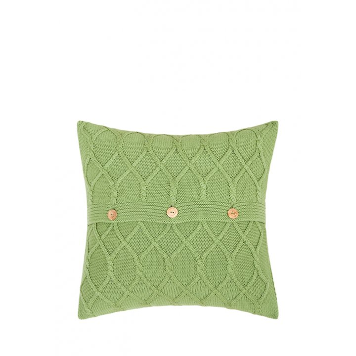 Декоративная наволочка «Lux №48» (цвет: травяной, 40х40 см)