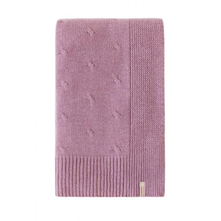 Плед вязаный шерстяной «Lux №52» (цвет: ягодный смузи; 130х170 см; 70% овечья шерсть, 30% полиамид)