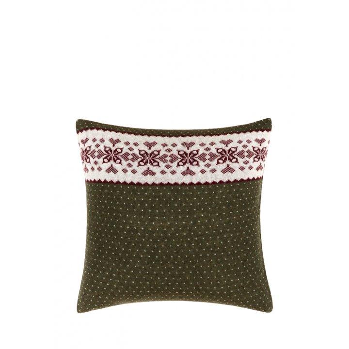 Декоративная наволочка «Norway» (цвет: зеленый/белый/бордо, 45х45 см)