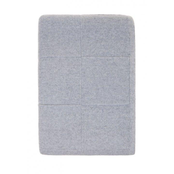 Плед вязаный шерстяной «Silver» (цвет: серый/серебряный; 130х170 см; 80% овечья шерсть, 20% полиамид)